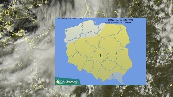 Burze z silnym wiatrem, ulewnym deszczem i gradem suną przez Polskę. Gdzie jest burza 12 czerwca   DobraPogoda24.pl